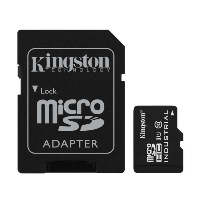 Cartão de Memória Kingston MicroSD Industrial Temperature Classe 10 com Adaptador - SDCIT