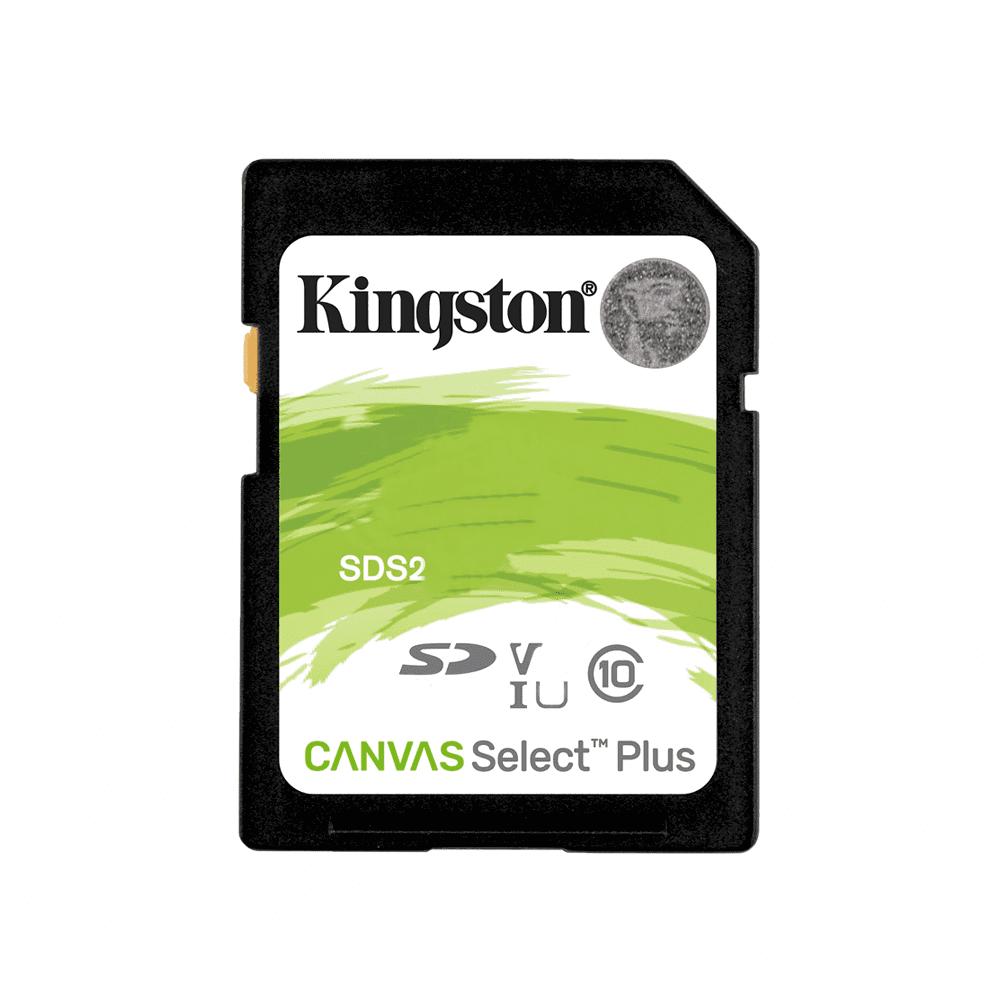 Cartão de Memória Kingston SD Canvas Select Plus Classe 10 UHS-I 100MB/s SDS2  - Fotolux