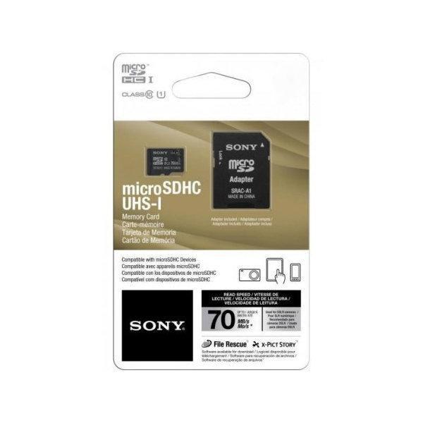 Cartão de Memória Sony Micro SD Classe 10 70MB/s com Adaptador SD