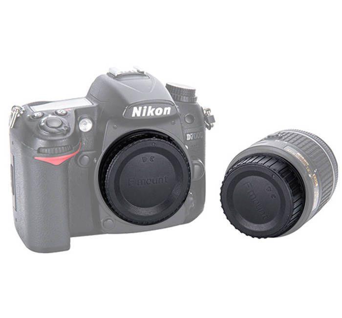 Conjunto de Tampas JJC L-R16 para Lente e Corpo da Câmera Nikon F  - Fotolux