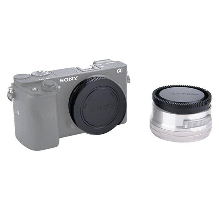 Conjunto de Tampas JJC L-R9 para Lente e Corpo da Câmera Sony E Mount