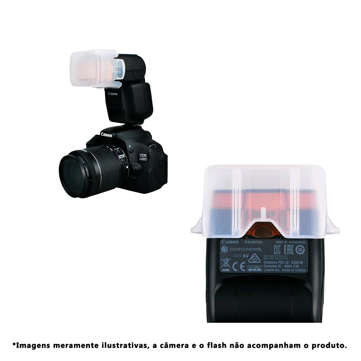 Difusor Plástico tipo Copo JJC FC-430EXIII para Flash Speedlite Canon 430EX III-RT  - Fotolux