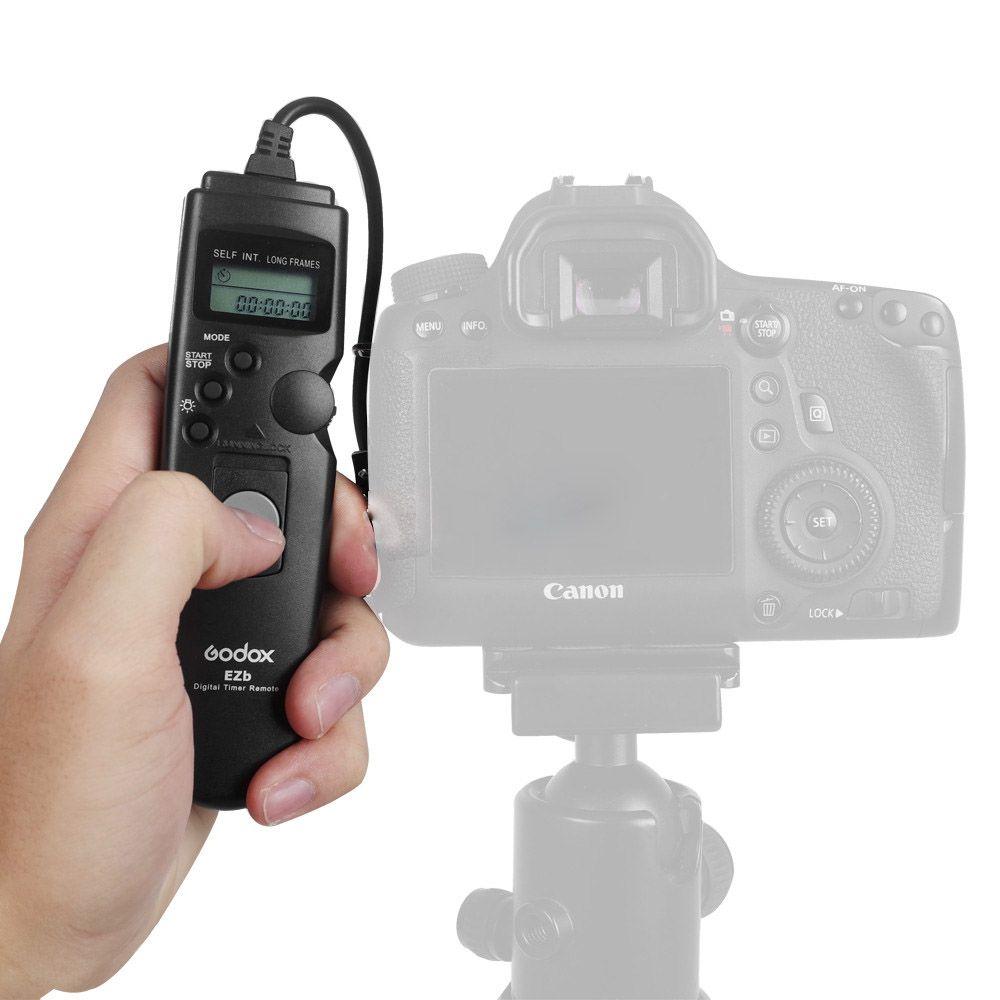 Disparador Remoto Time Lapse Godox EZB-C1 para Câmera Fotográfica Canon