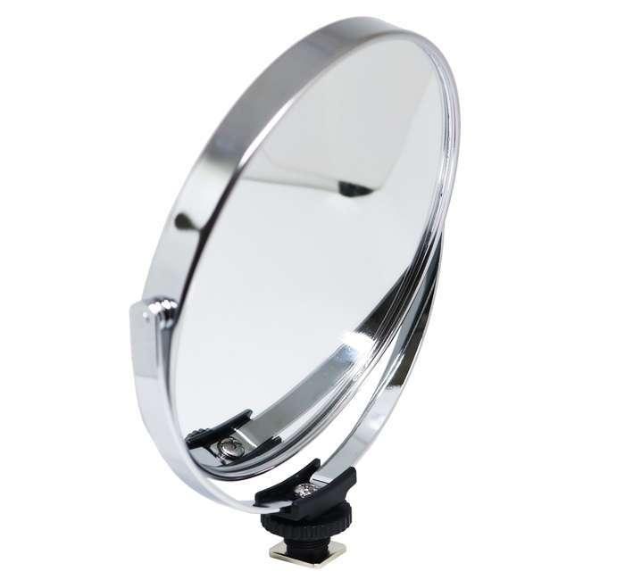 Espelho Double Faced 14 Greika para Iluminador de Led Ring Light com Sapata Hot Shoe  - Fotolux