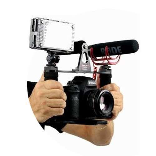 Estabilizador Gaiola Maxigrua Manopla Neoprene para Câmera DSLR, Led e Microfone  - Fotolux