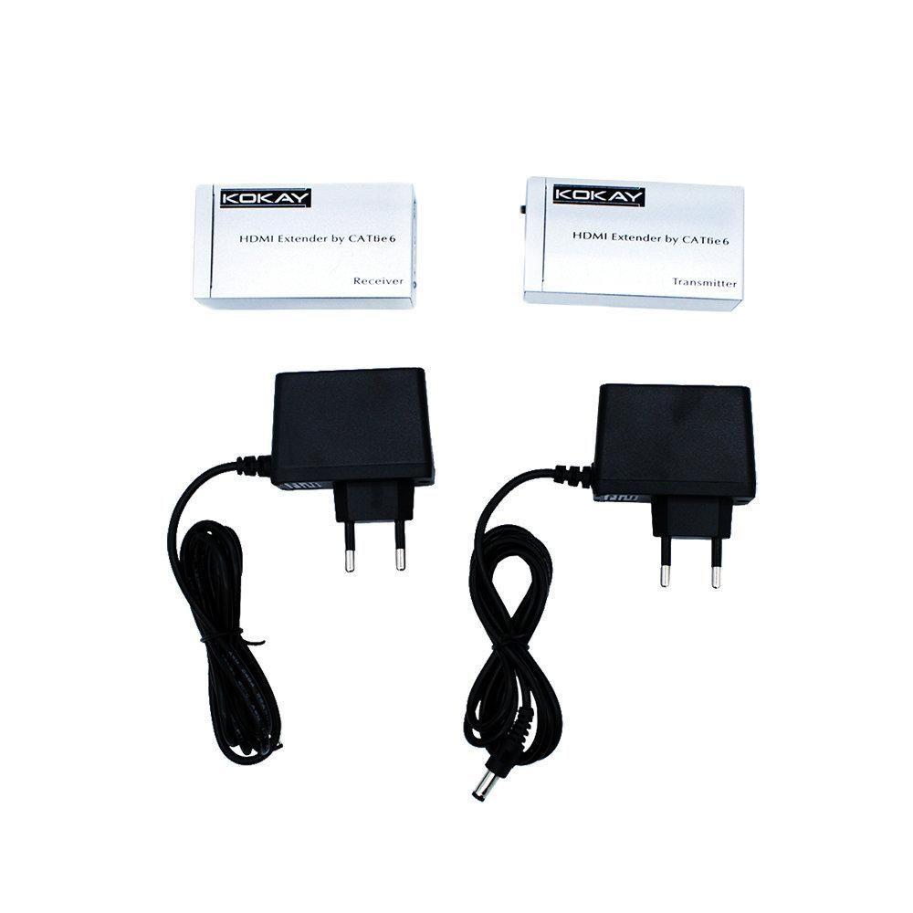 Extensor HDMI Cat6 3D 1080P 20 metros Chip Sce ? 075-7190  - Fotolux