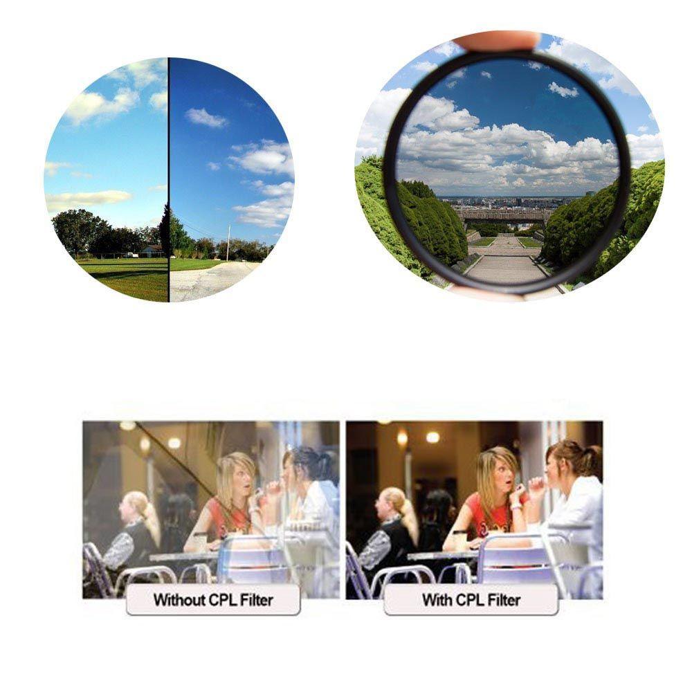 Filtro Polarizador CPL Greika para Lentes Fotográficas  - Fotolux