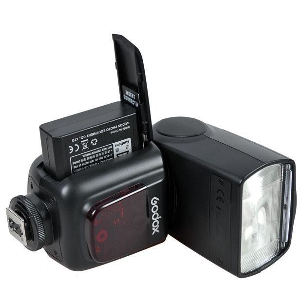 Flash Dedicado Speedlite TTL Godox Ving V860C à Bateria para Câmeras Canon  - Fotolux