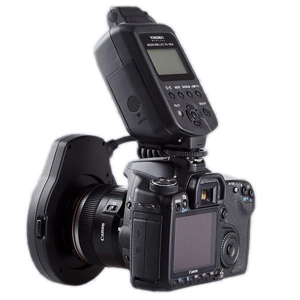 Flash Macro Ring Lite com TTL Yongnuo YN14EX para Câmeras Fotográficas