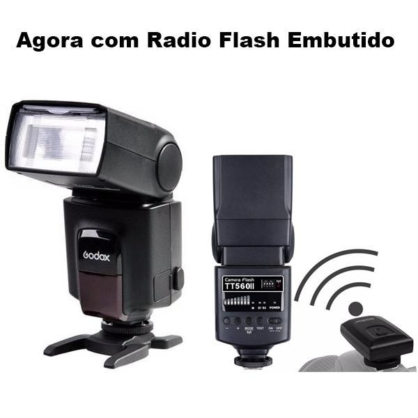 Flash Speedlite Godox TT560 II com Rádio Flash Embutido