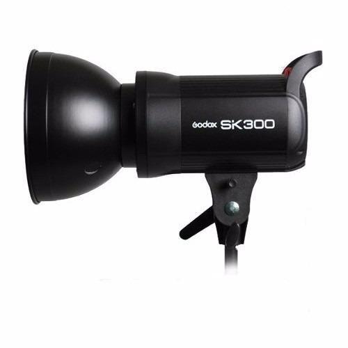 Flash Tocha 300W Godox SK300 Greika para Estúdio Fotográfico