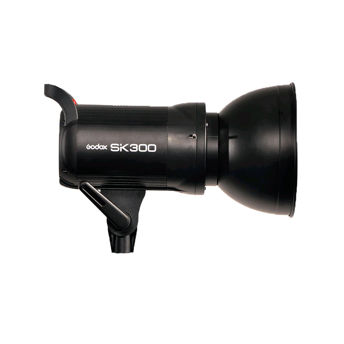 Flash Tocha 300W Godox SK300 Greika para Estúdio Fotográfico  - Fotolux