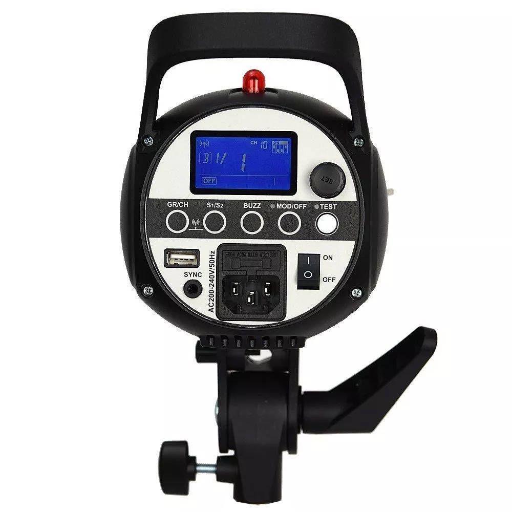 Flash Tocha 300W Godox SK-300II com Rádio Flash Embutido para Estúdio Fotográfico