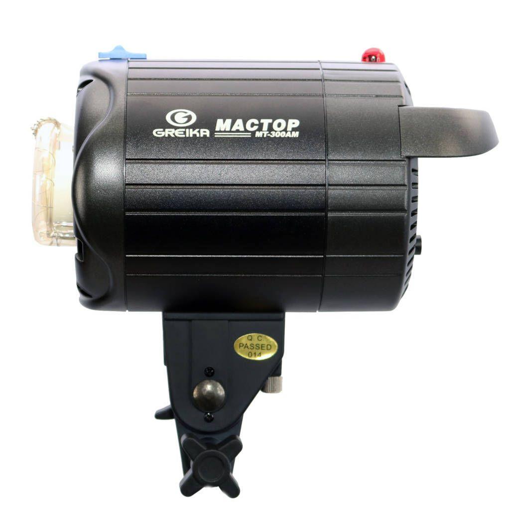 Flash Tocha Mactop 300W para Estúdio Fotográfico Greika MT-300AM  - Fotolux
