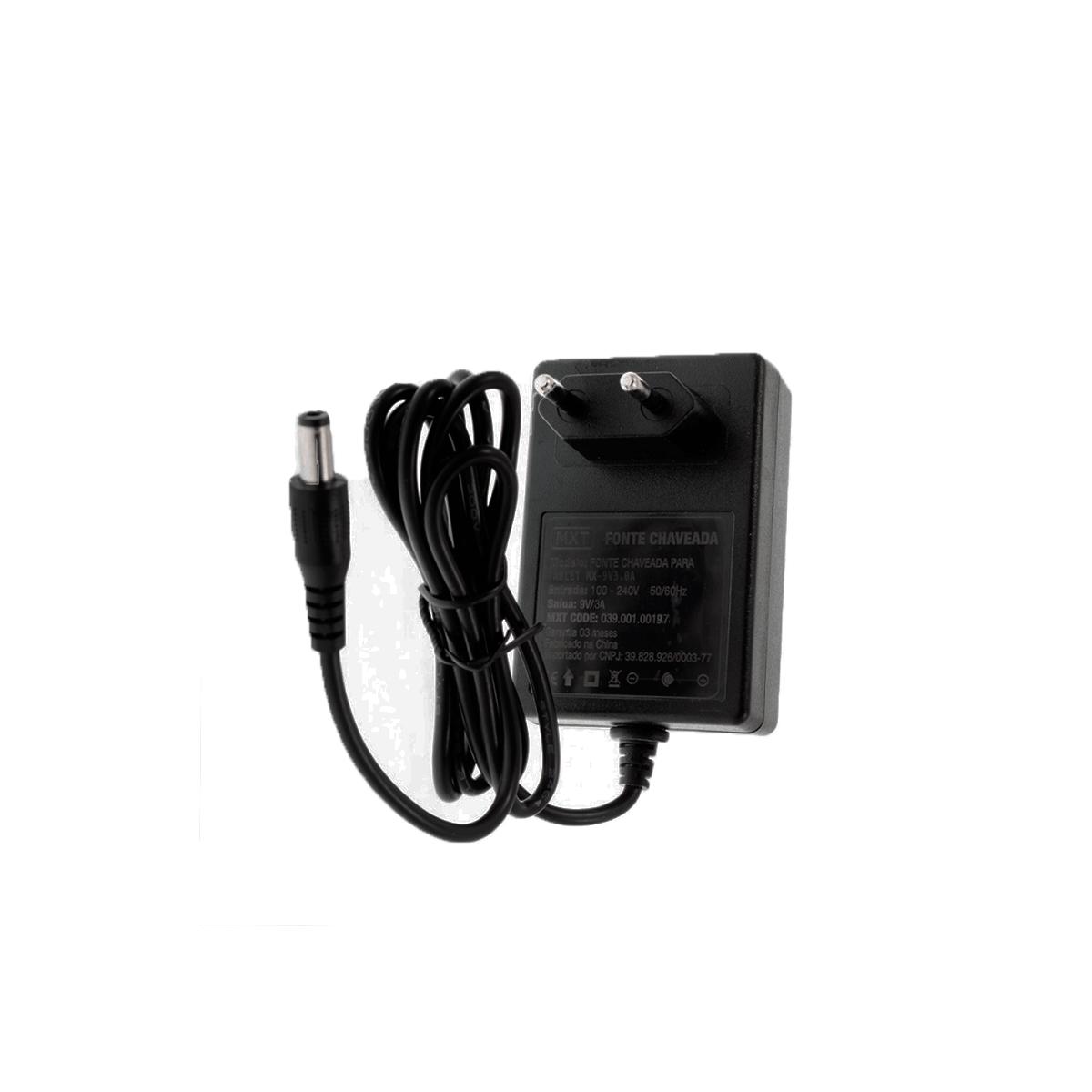 Fonte de Energia Chaveada para Iluminadores e Tablet 9V 3A (C+)  - Fotolux