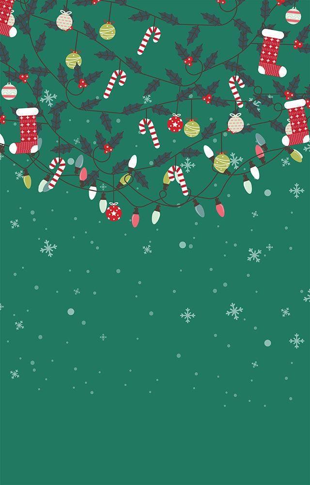 Fundo Fotográfico Decorado em Tecido Oxford - Tema Natal 10