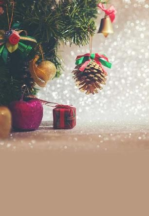 Fundo Fotográfico Decorado em Tecido Oxford - Tema Natal 2