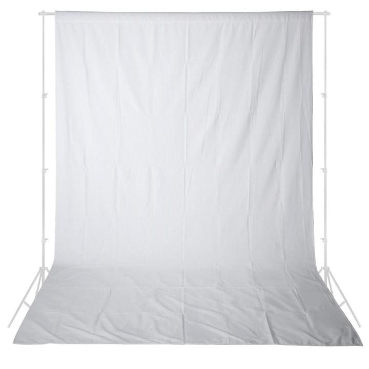 Fundo Infinito em Tecido Muslin Greika 3m x 5m - Branco  - Fotolux