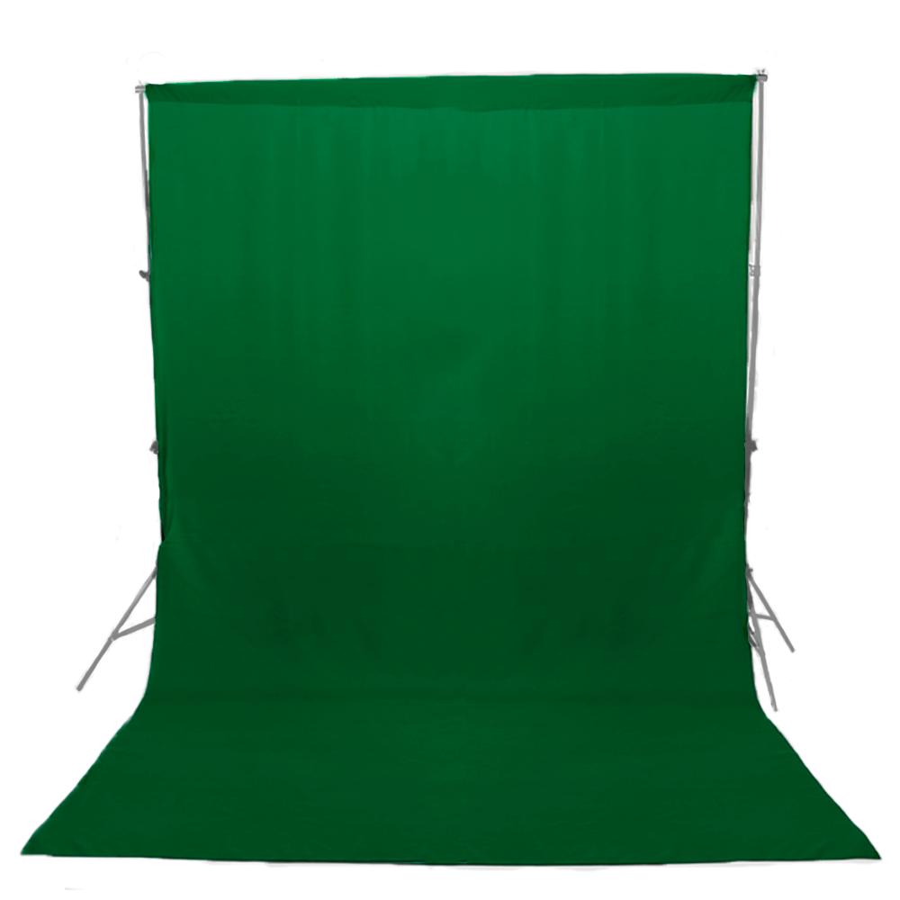 Fundo Infinito em Tecido Oxford Verde Chroma Key para Estúdio Fotográfico  - Fotolux