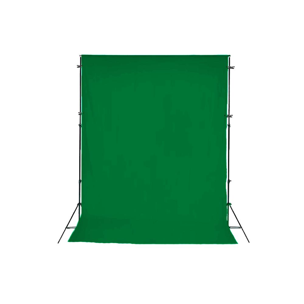 Fundo Verde Chroma Key 1,5m x 2m Completo com Suporte SFI-243 + 4 Grampos  - Fotolux