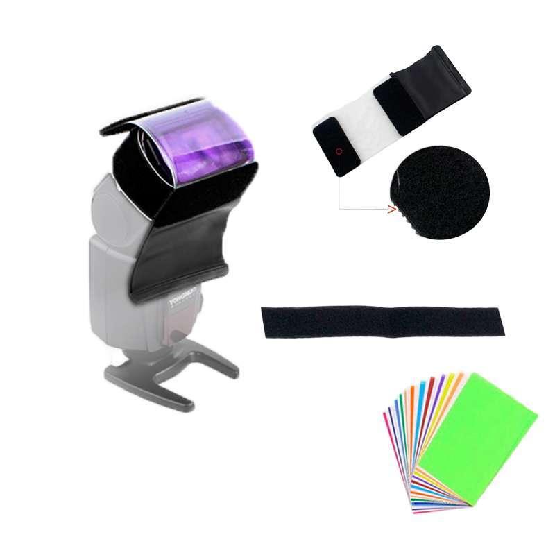 Gelatina Colorida 12 Cores para Flash Speedlite  - Fotolux