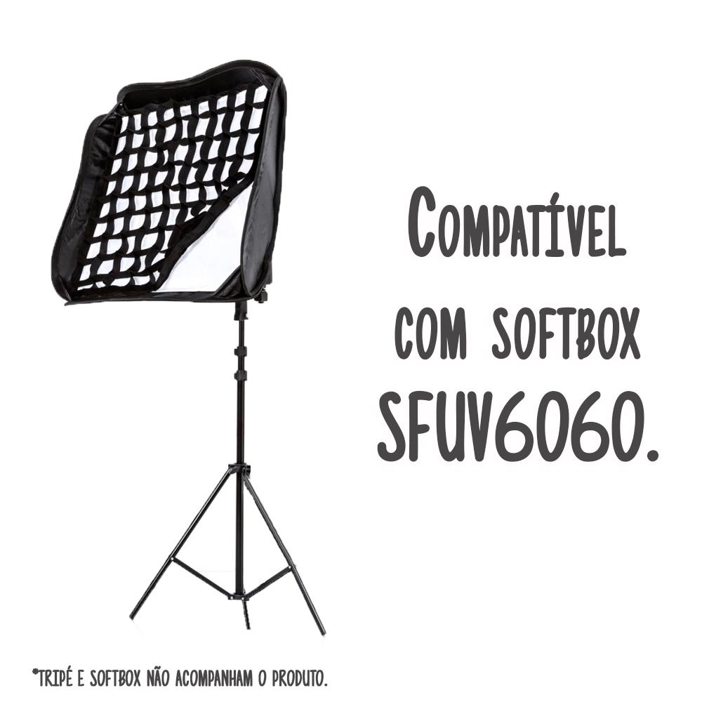Grid Softbox para Iluminação de Estúdio Fotográfico Greika SFUV6060  - Fotolux