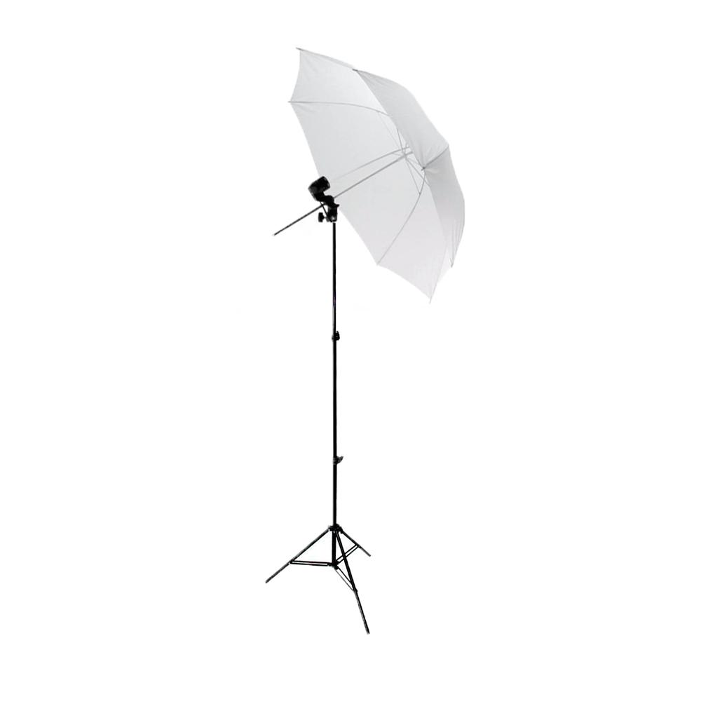 Iluminação para Foto com Sombrinha Difusora Greika 84cm e Tripé de 2m