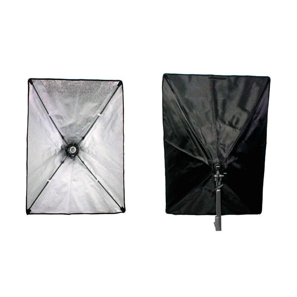 Iluminação para Gravação de Vídeo com Softbox Duplo 40x60cm e Lâmpada de Led 50w  - Fotolux