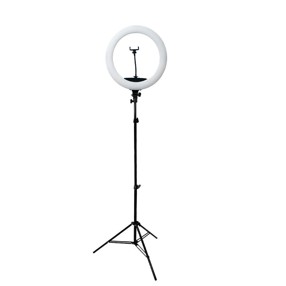 Iluminador de LED 65W Ring Light 45cm Diâmetro com Tripé de 2m para Foto e Vídeo