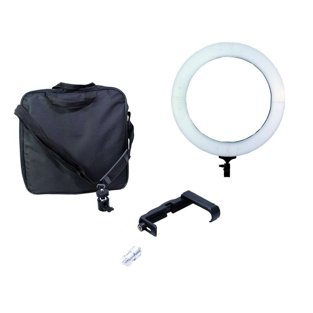 Iluminador de LED Ring Light 12 60W com 35cm Diâmetro para Foto e Vídeo