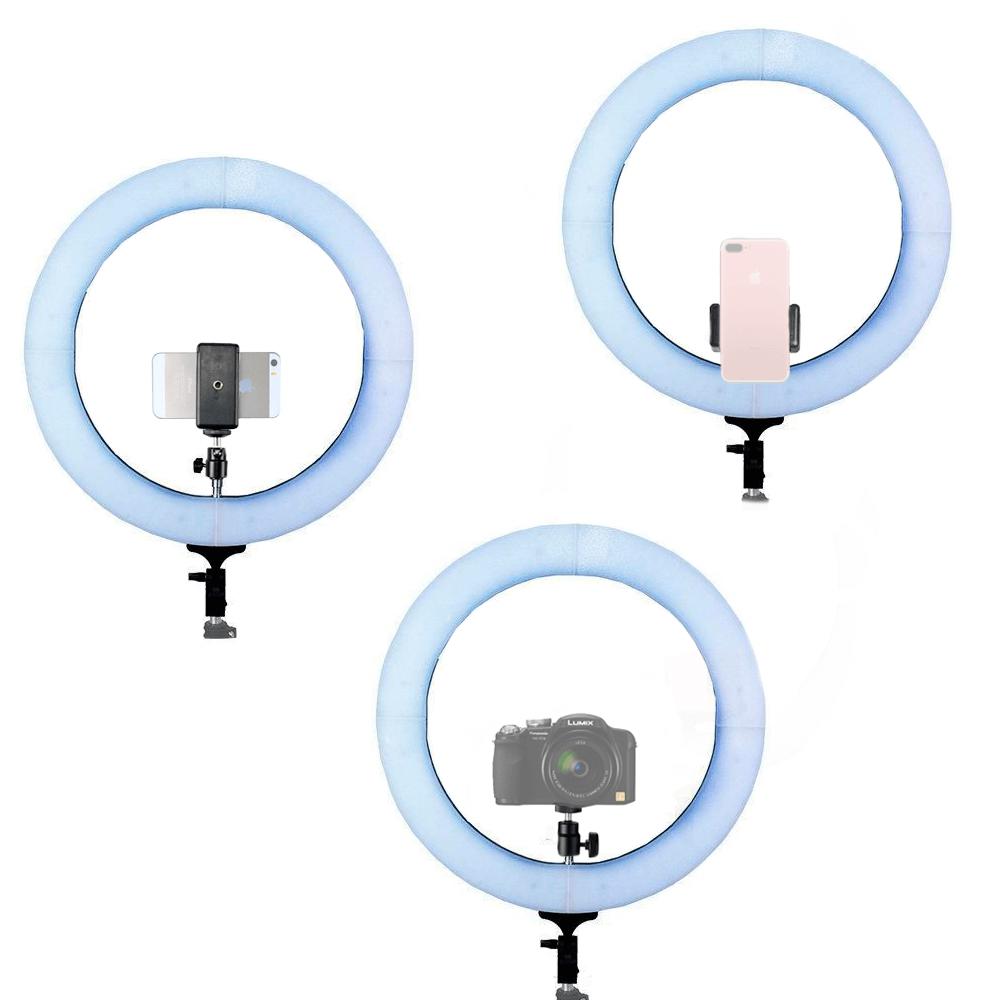Iluminador de LED Ring Light 18 80W com 48cm Diâmetro para Foto e Vídeo (sem tripé)  - Fotolux