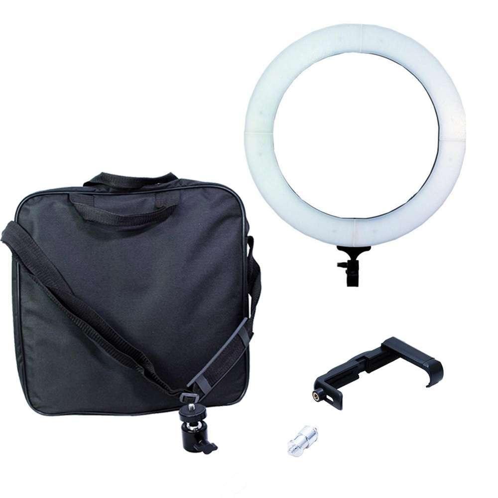 Iluminador de LED Ring Light 18 80W com 48cm Diâmetro para Foto e Vídeo
