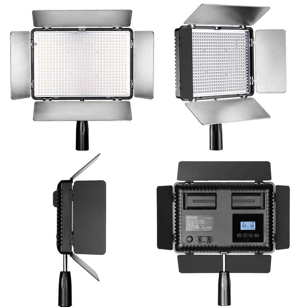 Iluminador de LED Travor TL-600A com Controle e Bateria + Carregador