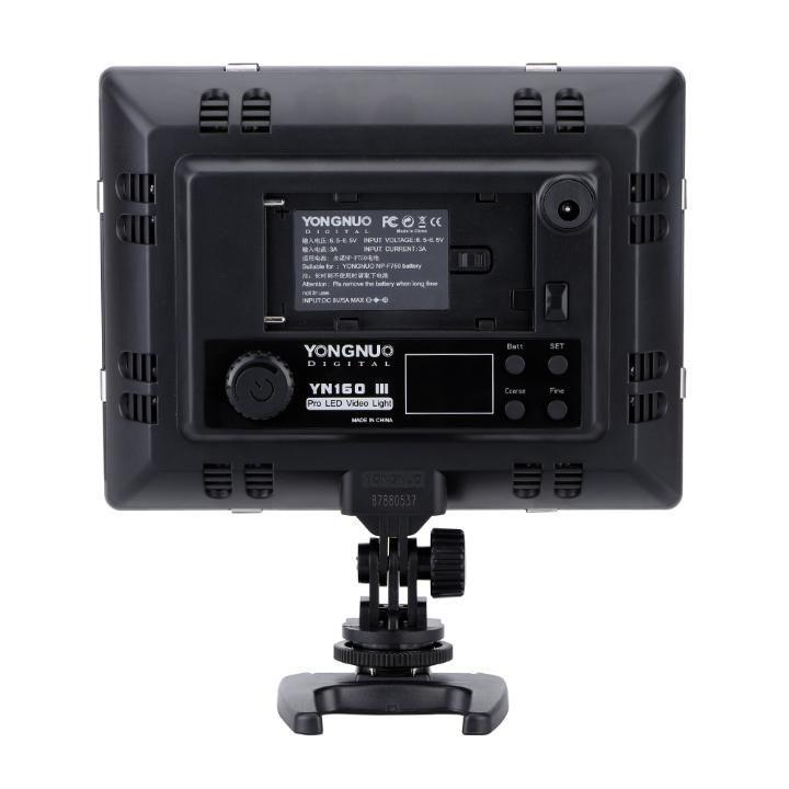 Iluminador de LED Yongnuo Digital YN160 III para Foto e Vídeo