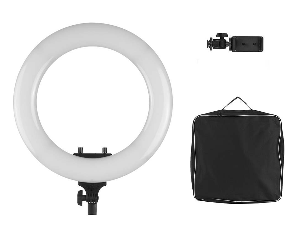 Iluminador Ring Light Greika R-40B Bicolor com 35cm  - Fotolux