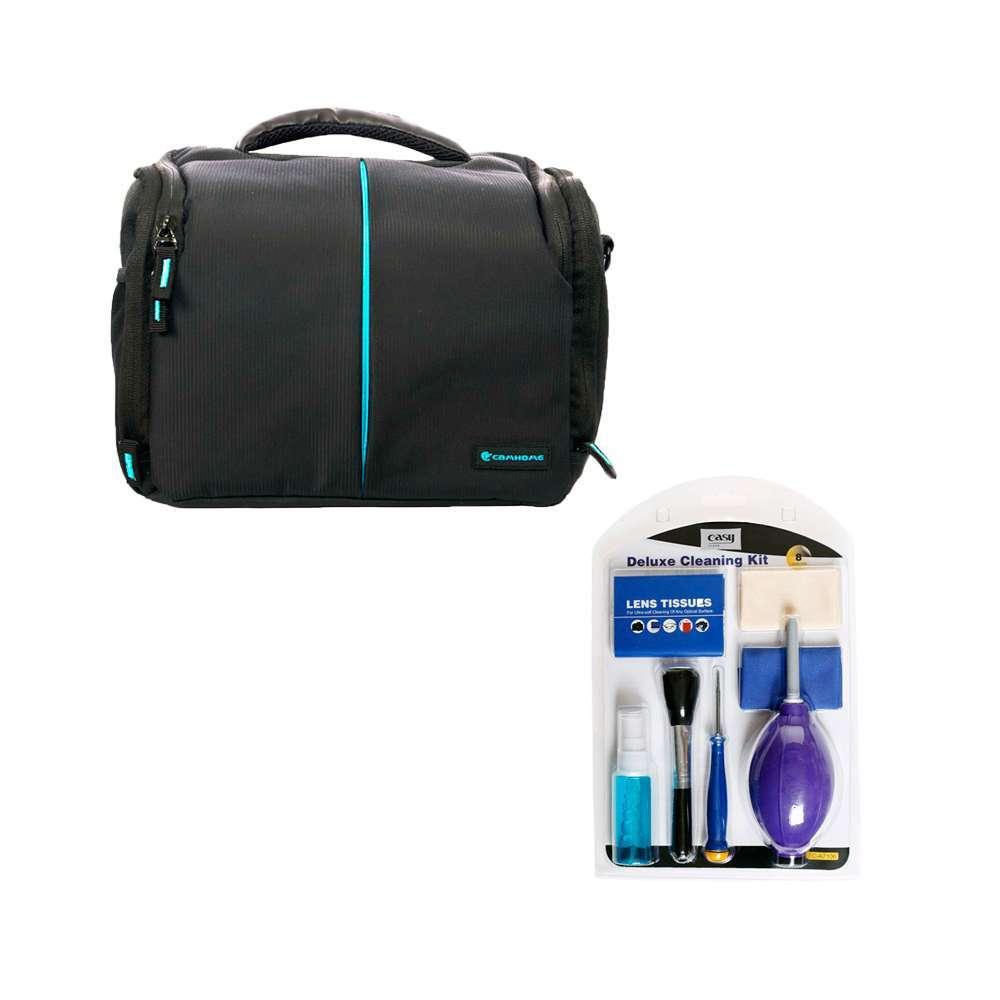 Kit com Bolsa Fotográfica Camhome EC-8187L e Kit de Limpeza Easy EC-A7106  - Fotolux