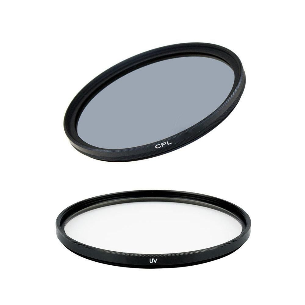 Kit com Filtro UV e Filtro CPL Greika para Lentes Fotográficas  - Fotolux