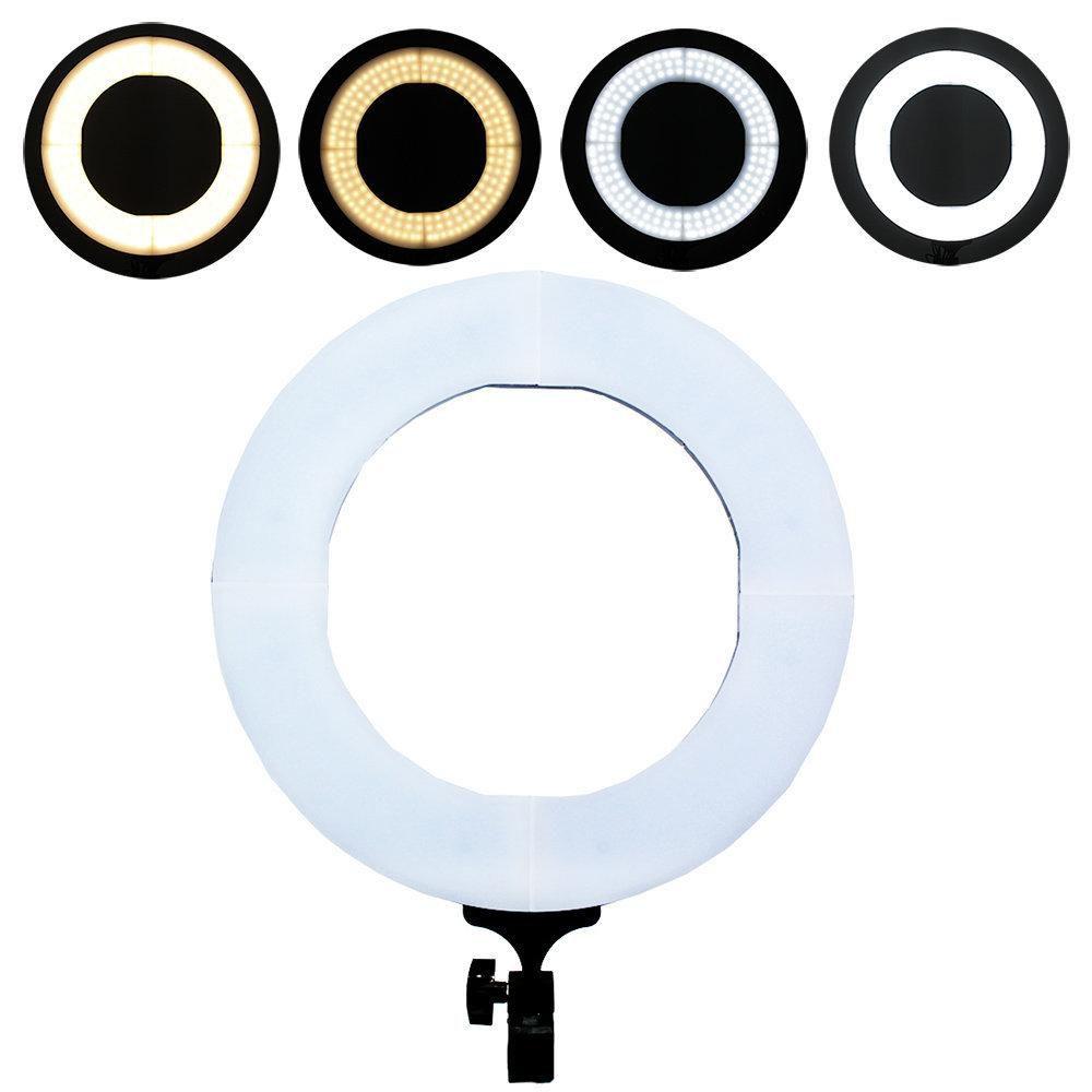 Kit com Iluminador de LED Ring Light 12 60W 35cm Diâmetro e Tripé 2m para Foto e Vídeo  - Fotolux