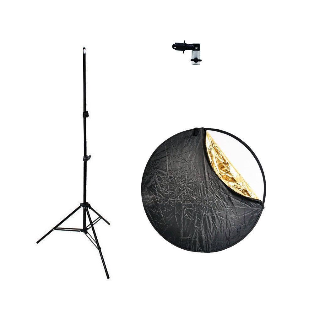Kit com Rebatedor Fotográfico 5 em 1 Sou Foto 60cm, Suporte YA-428 e Tripé 2m  - Fotolux