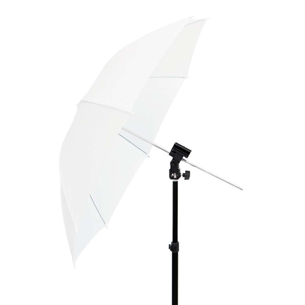 Kit de Iluminação com Sombrinha Branca, Suporte Holder SPF-01 e Tripé 2m Sou Foto  - Fotolux
