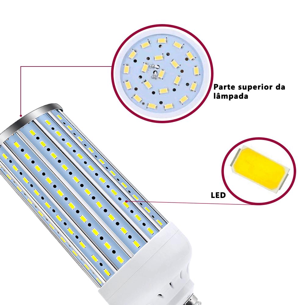 Kit de Iluminação Completo Sombrinhas Difusora Sou Foto 84cm com Soquete Simples E-27 e Lâmpadas de Led 60w  - Fotolux