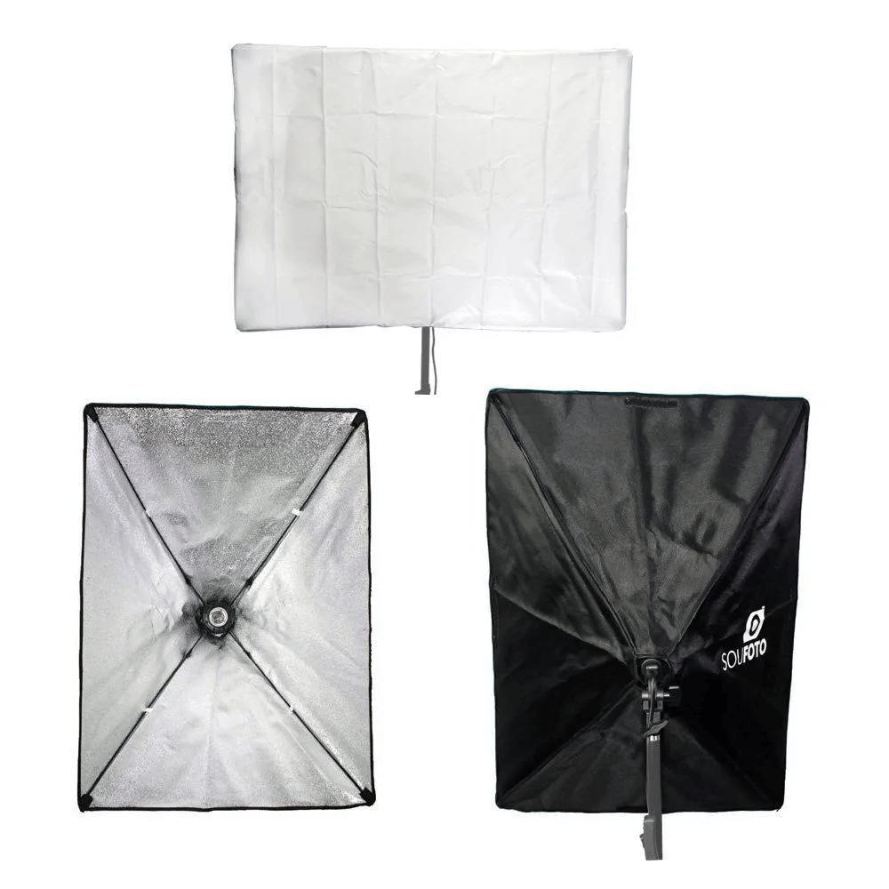 Kit de Iluminação Duplo com Softbox 50x70cm, Tripé de 2m e Bolsa Transporte Sou Foto para Estúdio Fotográfico  - Fotolux