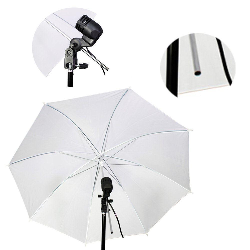 Kit de Iluminação Duplo com Tripés 2 metros, Soquetes Simples e Sombrinhas Difusora Sou Foto