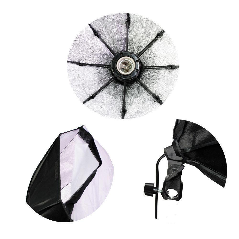 Kit de Iluminação Duplo com Tripés Atek 1,8m e Softboxes Octa 70cm Sou Foto
