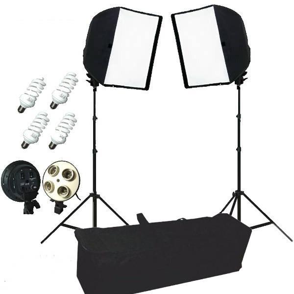 Kit de Iluminação Fluorescente Easy EK para Estúdio Fotográfico