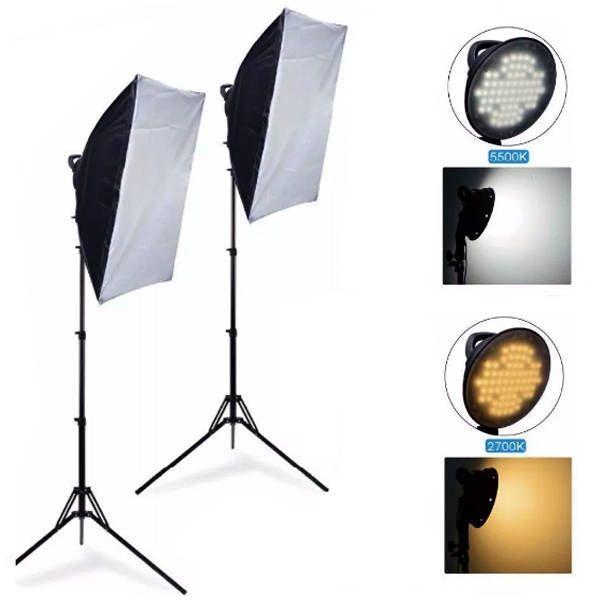 Kit de Iluminação Luz Contínua Newborn em LED para Estúdio Fotográfico