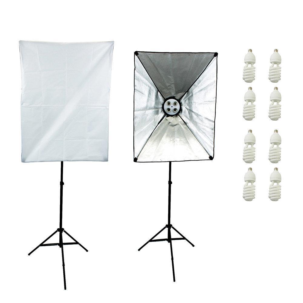 Kit de Iluminação Newborn 1 360w com Softbox e Tripés de Iluminação 2m