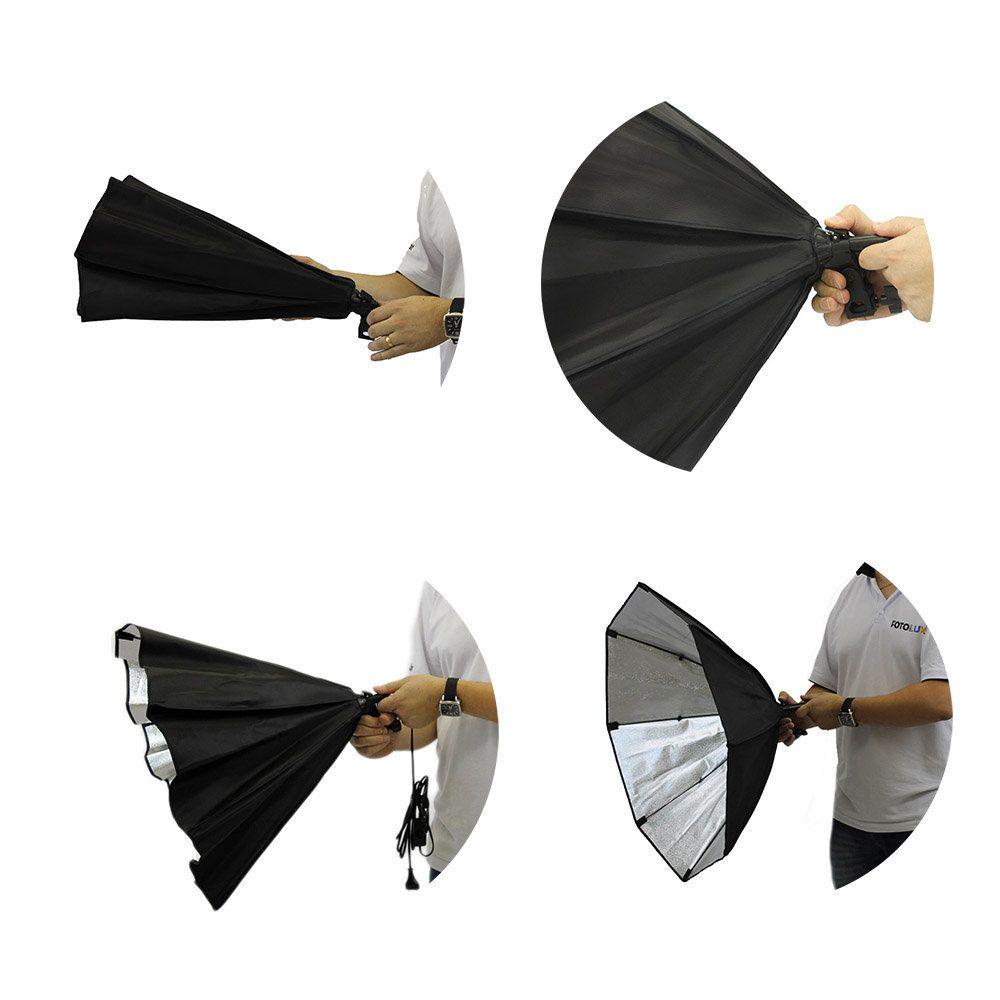 Kit de Iluminação com Softbox Octagonal 70cm de Soquete Embutido, Tripés e Bolsa -  Newborn 3   - Fotolux