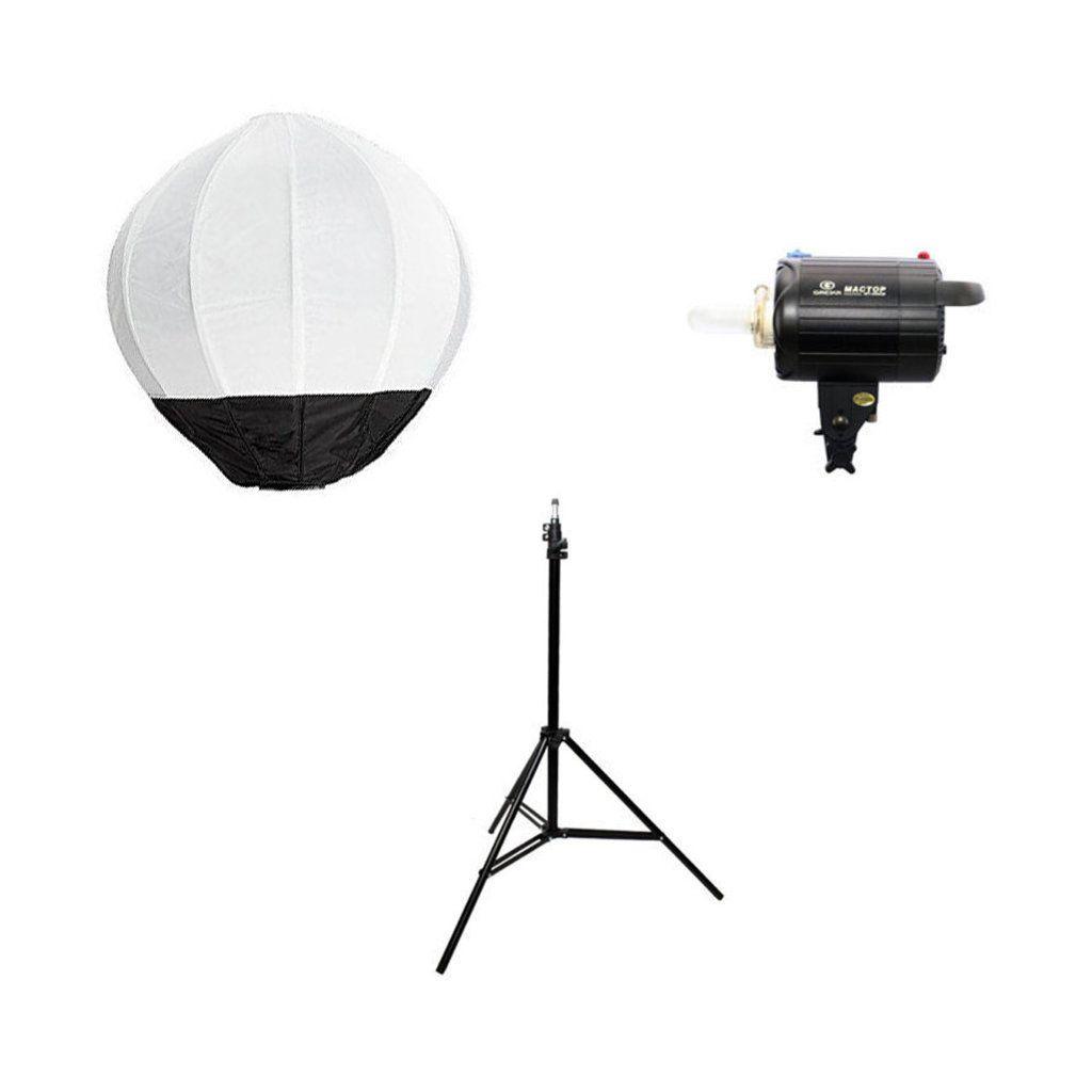 Kit de Iluminação para Estúdio Fotográfico 300W com Flash Tocha, Softbox e Tripé 2,40m  - Fotolux
