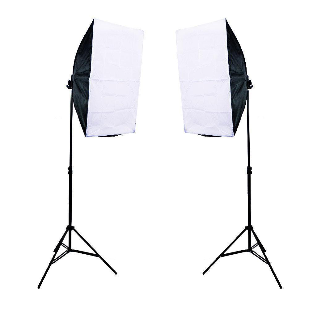 Kit de Iluminação para Estúdio Fotográfico Newborn 1 - 360w com Softbox e Tripés de Iluminação de 2 metros  - Fotolux